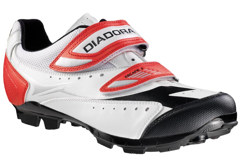 Diadora Escape 2 SPD MTB Cycling Shoes size 45 WHI/RED/BLK