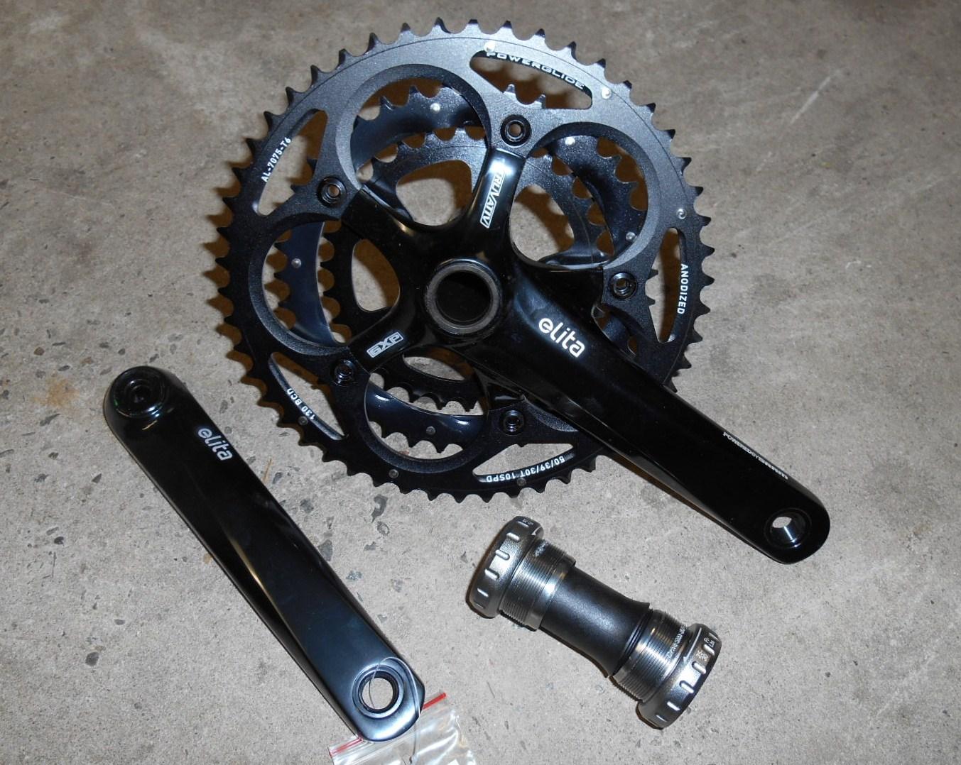 Truvativ Elita Triple 10 Speed Road Bike Chainset 172.5 inc Bottom Bracket