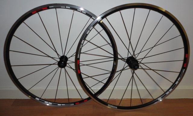 Shimano R500/R501 700c Road Bike Wheel Set F +R PAIR BLACK