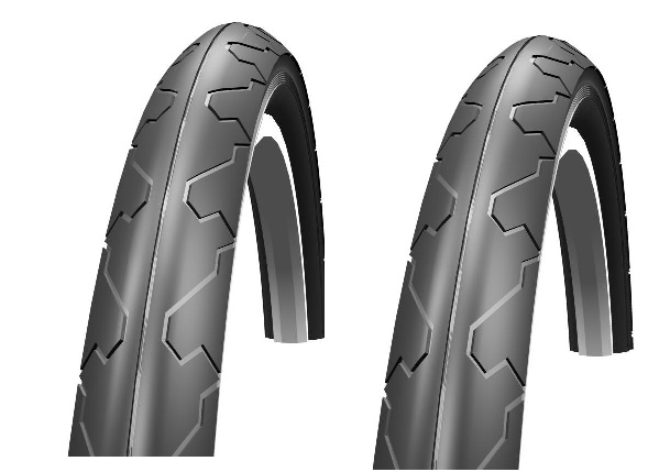 2 x Schwalbe City Jet 26 x 1.5 MTB Road Cycle Tyres