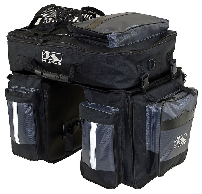 M Wave Traveller Triple Pannier Set With Removable Top Bag