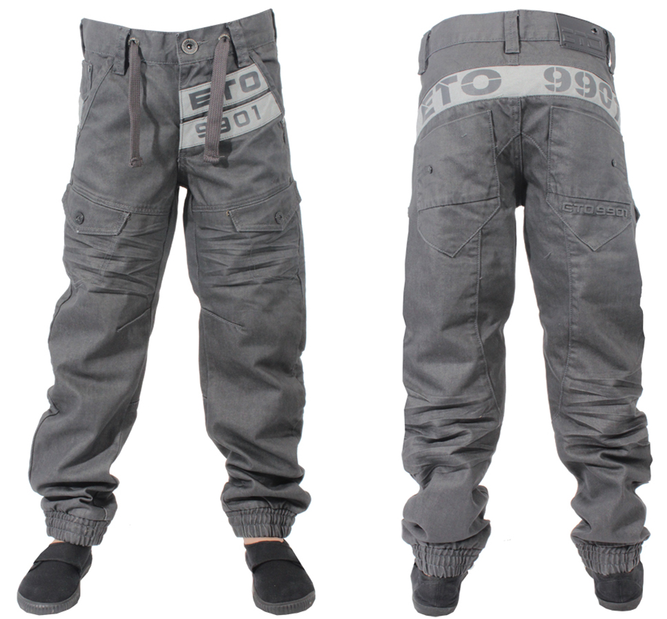 NEW-BOYS-DESIGNER-BRANDED-ETO-COLOUR-GREY-CUFF-JEANS-EB200-BNWT-SIZES-24-TO-29