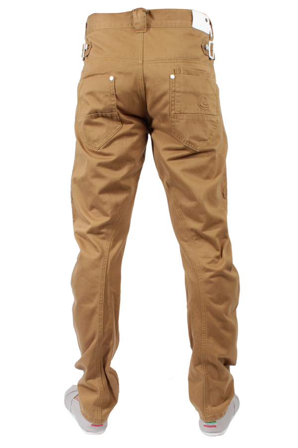 NEW-MENS-DESIGN-BRANDED-ETO-CURVED-LEG-JEANS-EM169-COLOURED-TAN-BNWT-28-T0-42