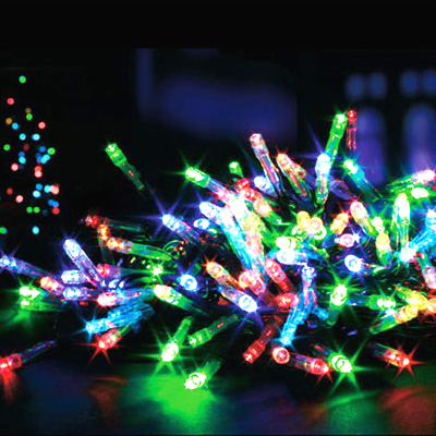 about 50 timer multi coloured battery operated led christmas lights. Black Bedroom Furniture Sets. Home Design Ideas