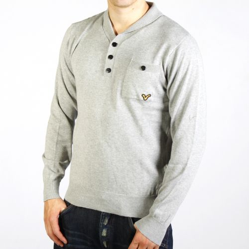 New-Mens-Voi-knitted-Jumper-Bremen-in-Grey-Free-P-P
