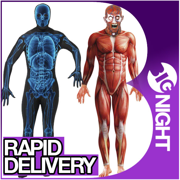 Human Anatomy Body Suit Costume Periodic Diagrams Science